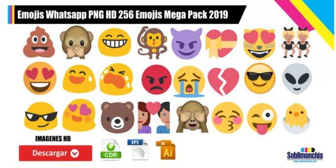Emojis Whatsapp PNG HD 256 Emojis