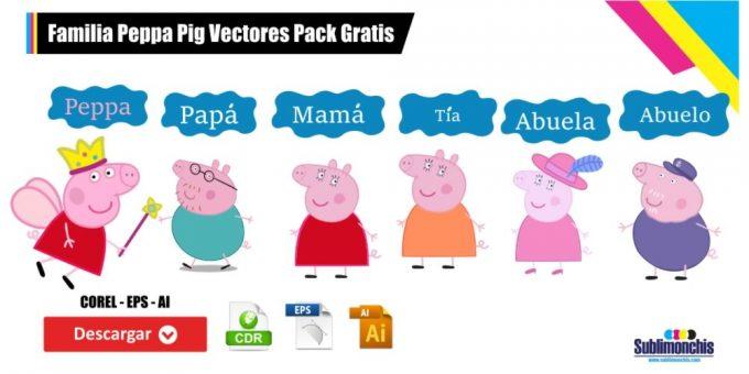 Familia Peppa Pig Vectores Gratis