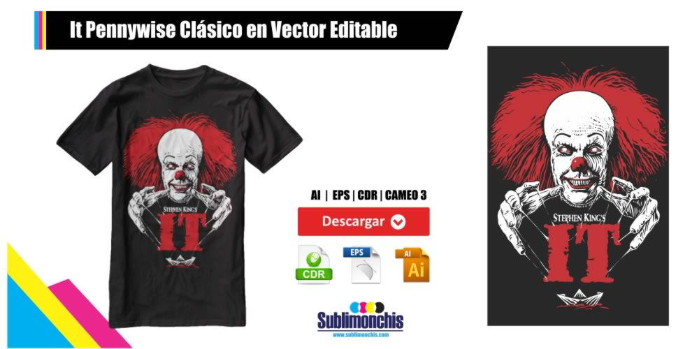 It Pennywise Clasico en Vector