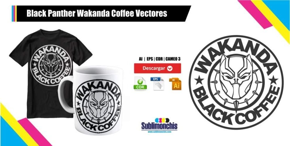 Black Panther Wakanda Coffee Vectores Gratis