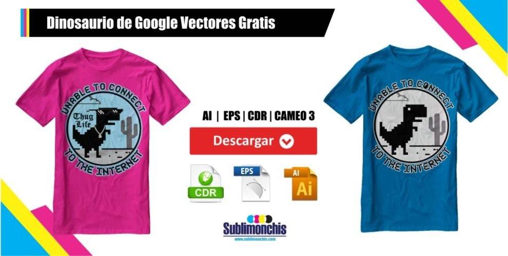 Dinosaurio de Google Vectores Gratis