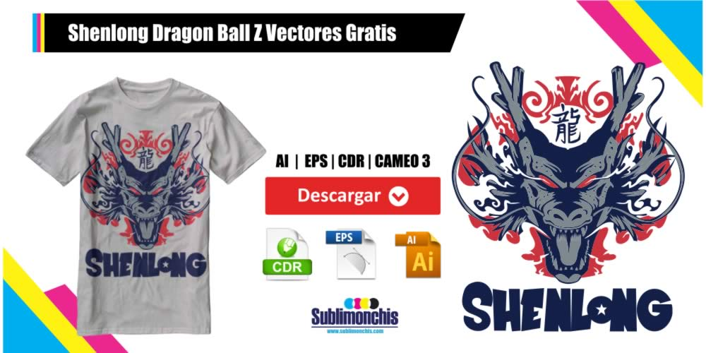 Shenlong Dragon Ball Z Vectores