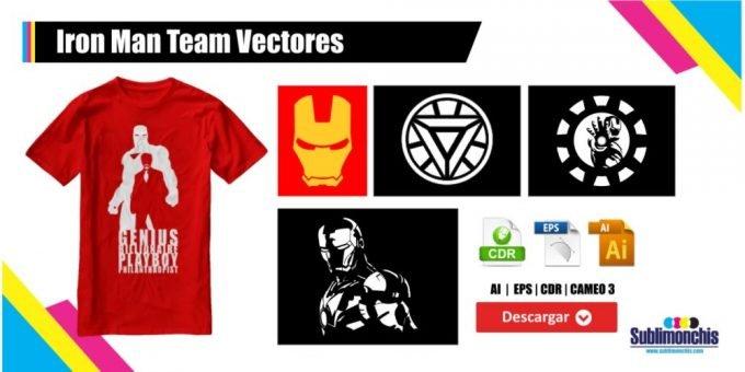 Iron Man Team Vectores