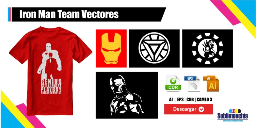 Iron Man Team Vectores