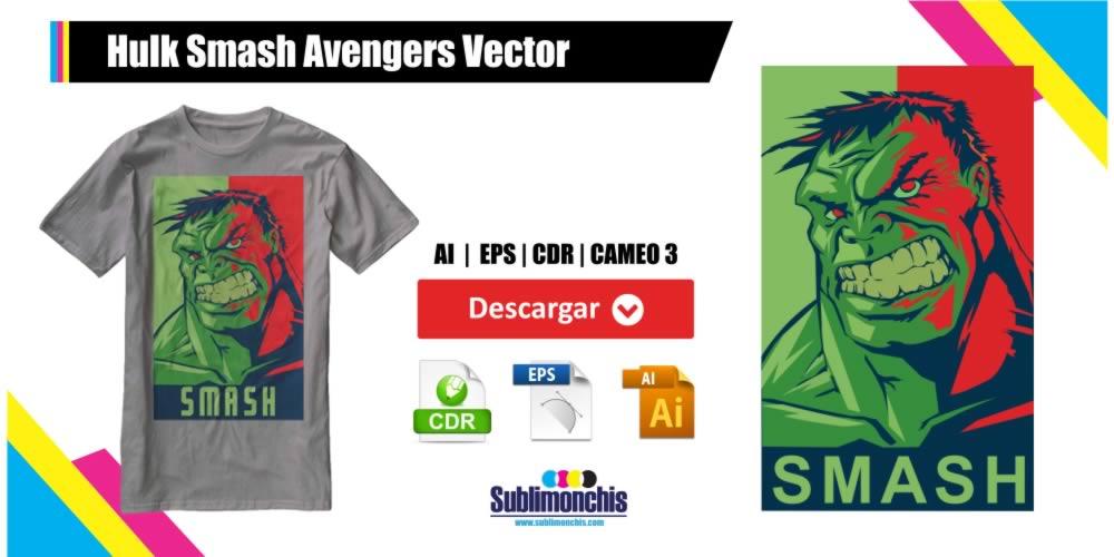 Hulk Smash Avengers Vectores