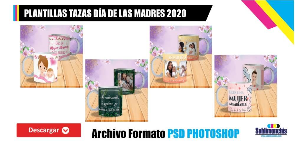 Plantillas Tazas Día de las Madres 2020