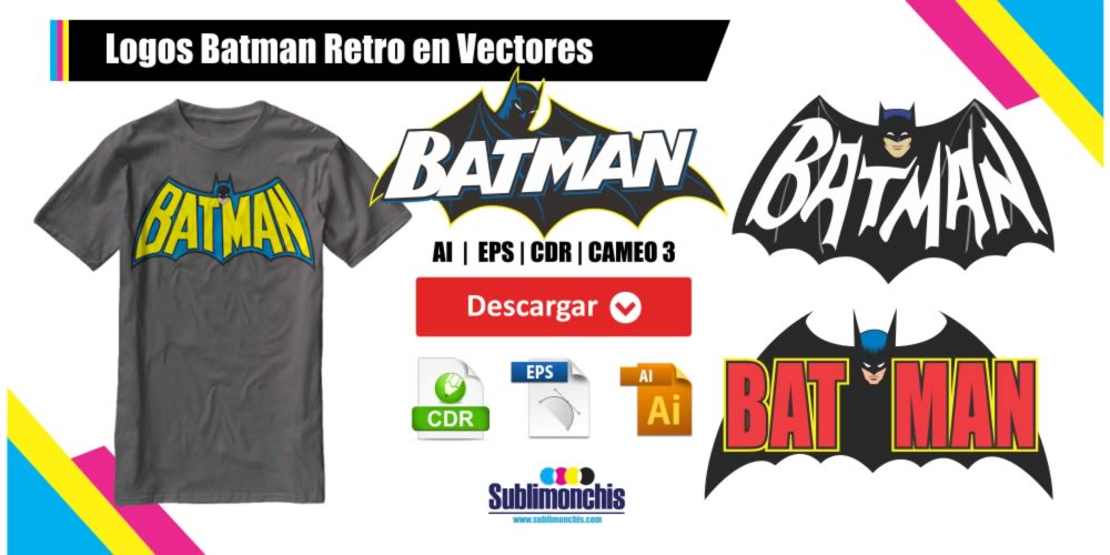 Logos Batman Retro en Vectores