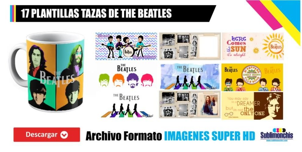 Plantillas para Tazas The Beatles