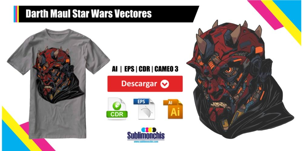 Darth Maul Star Wars Vectores