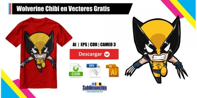 Wolverine Chibi Vectores Gratis