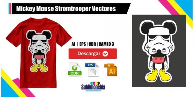Mickey Mouse Stromtrooper Vectores