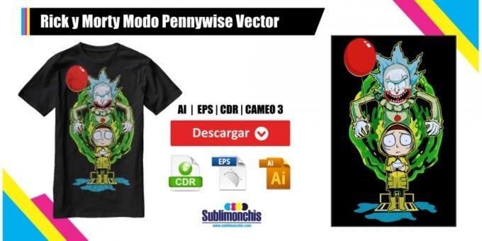 Rick y Morty Modo Pennywise Vector