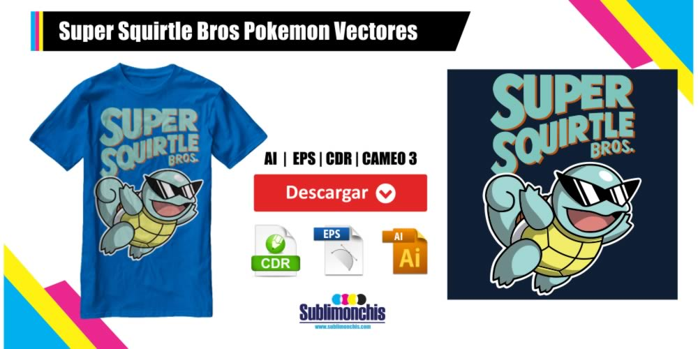 Super Squirtle Bros Pokemon Vectores Gratis
