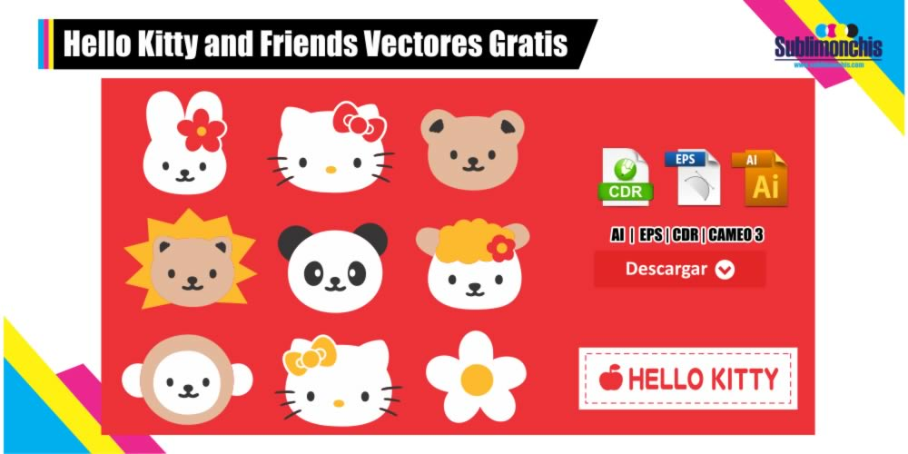 Hello Kitty and Friends Vectores Gratis Pack 1
