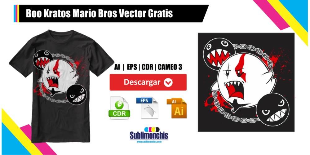 Boo Kratos Mario Bros Vectores Gratis