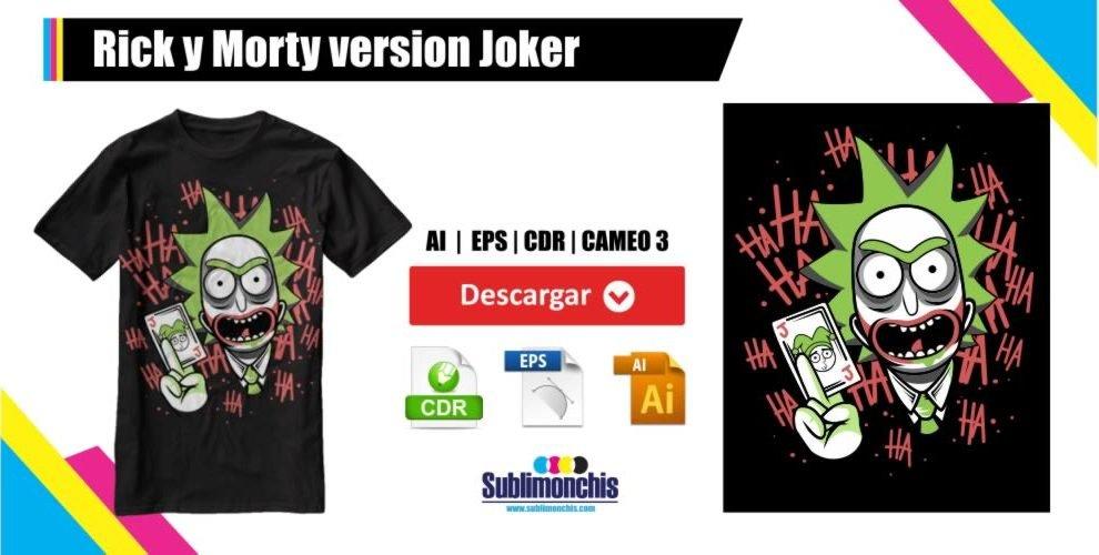 Rick y Morty version Joker Vector