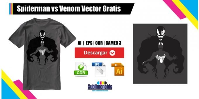 Spiderman vs Venom Vector Gratis