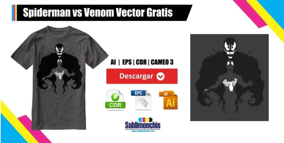 Spiderman vs Venom Vector Gratis