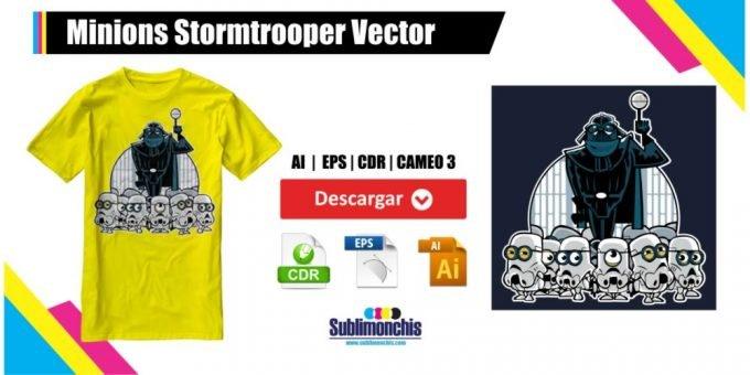 Minions Stormtrooper Vector Gratis